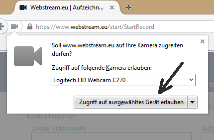 Live Streaming mit Firefox